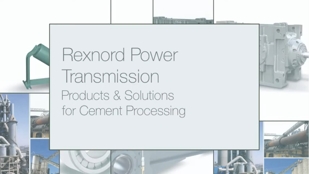 Rexnord Cement Processing Products & Solutions l SLS Partner Rexnord