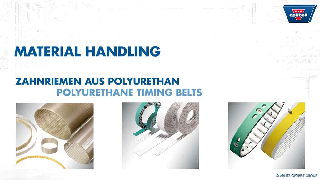 Material Handling Polyurethane Timing Belts l SLS Partner Optibelt