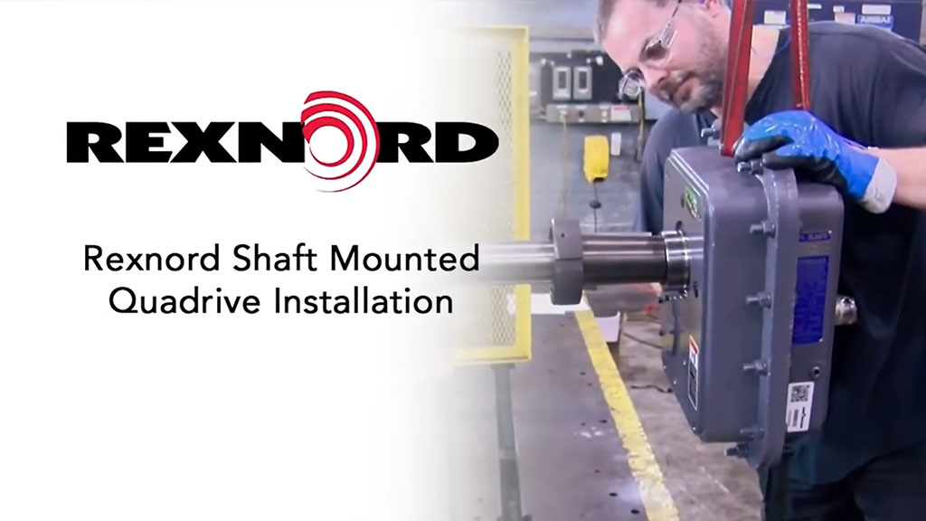 Rexnord Shaft Mounted Quadrive Gear Drive Installation l SLS Partner Rexnord