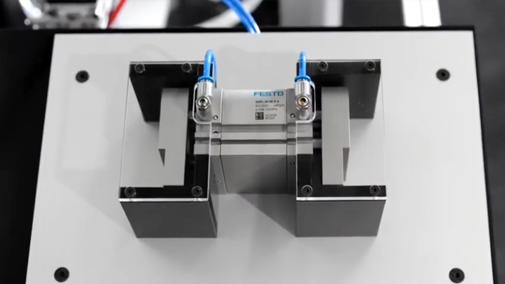 Your application requires a long stroke gripper? The DHPL is at your service! l SLS Partner Festo