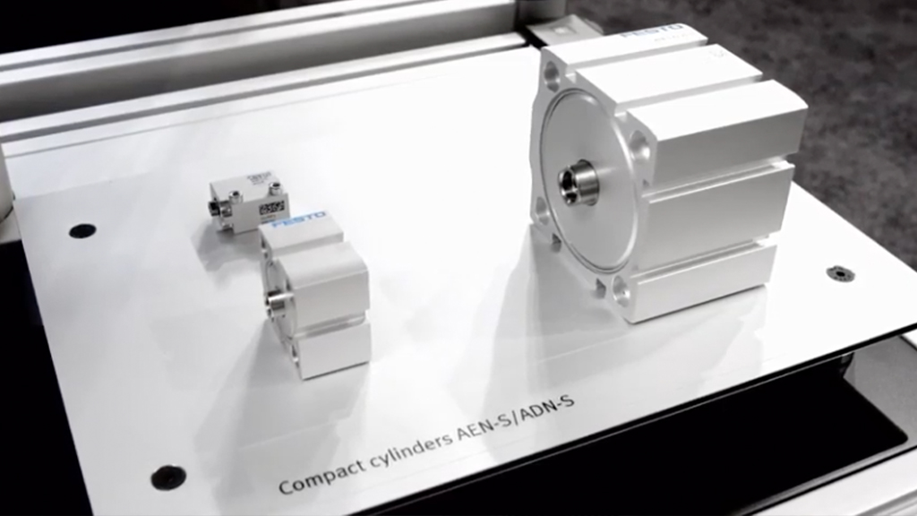 Compact cylinder ADN-S- More space, performance with combined compact design! l SLS Partner Festo