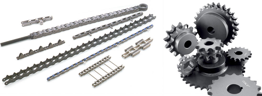 different types of chains and sprockets